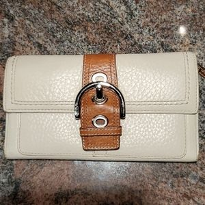 Coach trifold leathet wallet